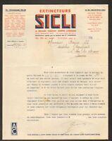 """SAINT-OUEN (93) EXTINCTEURS de SECOURS """"Ets. SICLI"""" en 1935"""