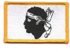 Toppe Toppa PATCH CORSICA 7x4,5cm Bandiera banderina ricamata termoadesivo