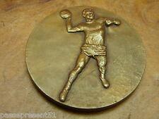 Jolie ancienne médaille en bronze, Handball, Fraisse - Demey