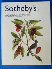CATALOGUE SOTHEBY'S  LIVRES D'HISTOIRE NATURELLE  / NATURAL HISTORY 05/06/2001