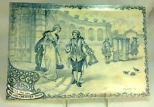 Antique Large Delft Blue & White French Ad Plaque 100,000 Shirts Signed 18th C.