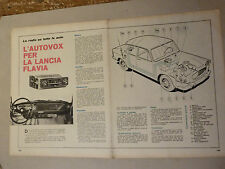 ADVERTISING PUBBLICITA' L'AUTOVOX PER LA LANCIA FLAVIA --  1962