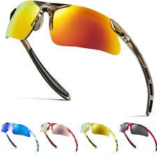 Kids Baseball Cycling Sports Wrap Around Sunglasses Boys Youth Mirrored Glasses