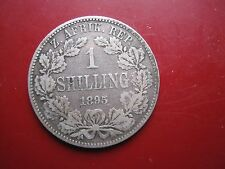 South Africa ZAR 1895 Silver One Shilling Coin Paul Kruger