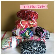 Vera Bradley Hard Large Eyeglass Sunglass Hard Clamshell Case YOU CHOOSE!