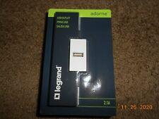 Legrand Adorne 2.1 A Usb Outlet Electrical Outlet in White Finish - Arusbw4
