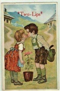 comic postcard: Language of Flowers
