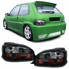 BLACK / SMOKED REAR TAIL LIGHTS LAMPS FOR CITROEN SAXO 1996 - 2004 MODEL