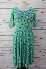 XXS LuLaRoe Nicole Dress Mommy and Me Collection Mint Floral Purple Pink Yellow