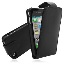 iPhone 4/4S Genuine Leather Pouch Black sleeve Case Protective Cover Case