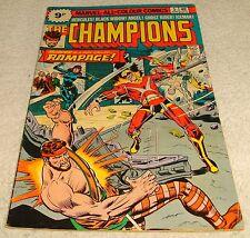 MARVEL COMICS THE CHAMPIONS # 5 F+/VF- 1975 UK PRICE VARIANT