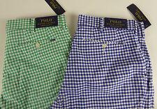 Polo Ralph Lauren Stretch Classic Fit Gingham Plaid Shorts Cotton Blend NWT $79