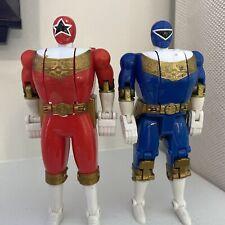 1996 Power Rangers ZEO Flip Heads Action Figures Lot Red & Blue