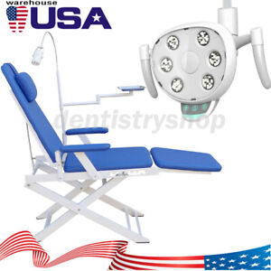 UPS Dental Examination Folding Chair Simple Type+COXO Adjustable LED Oral Lamp
