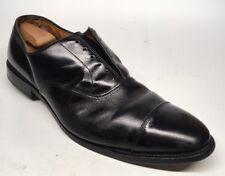 Sz. 15 D Allen Edmonds Park Avenue Black Leather Cap Toe Balmoral Made In USA