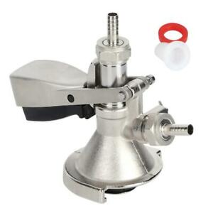A Type Keg Coupler Stainless Steel Beer Keg Dispenser Connector Dispensing Equip