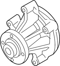 GENUINE FORD WATER PUMP 5W7Z-8501-AA 4.6L V8 PW-464 01-11 Crown Victoria Mustang