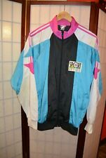 Adidas Sport special blue purple retro vintage jacket 38/40 Singapore (#140)