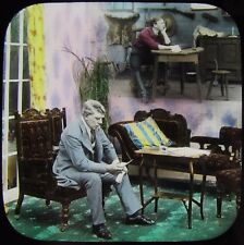 Glass Magic Lantern Slide MAY I COME HOME ONCE MORE NO4 C1910 EDWARDIAN TALE
