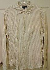 Banana Republic Men's Dress Shirt Classic Fit 16/16.5 Linen Blend Large Striped