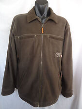 TARGET Culture Mens Jacket S L 102cm BROWN Winter Polar Fleece Zip Up VGC #4090