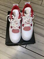 Authentic Air Jordan 4 Red Metallic Size 7