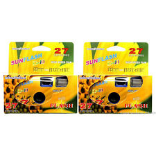 2 Pcs Sun Flash D-10 Single Use One Time Use Disposable Film Camera
