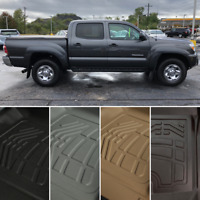 SureFit Floor Mats Front, Second Row for 2012-2015 Toyota TACOMA Double Cab
