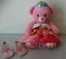 "Build A Bear pink DISNEY PRINCESS 17"" Teddy with AURORA dress &  shoes"