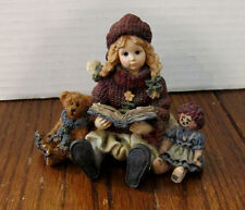 Boyds Dollstone -- Yesterday's Child -- Megan with Elliot and Annie #3504