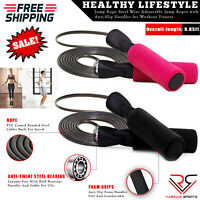 SKIPPING ROPE JUMP SPEED EXERCISE BOXING GYM FITNESS WORKOUT ADULT KIDS UK-STOCK
