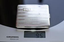 Zigarettenetui, etwa 1950, 835 Silber, gepunzt, 95 Gramm, gebraucht