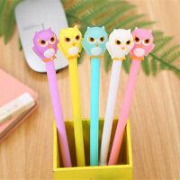 6pcs Cute Cartoon Kawaii Colorful Owl Gel Ink Roller Ball Point Pen School Kids