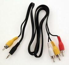 Câble Convertisseur Audio Jack 3.5mm + 1 RCA Video vers 3 RCA Composite Mâle