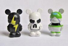 DISNEY 2010 Skull Lightning Bolt BUZZ LIGHTYEAR VINYLMATION Jr. Figure Lot