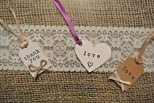 personalised wedding favour luggage tags   thank you rustic shabby chic  pegs
