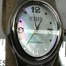 Ladies Watch Ecclissi Sterling Silver Leather Band