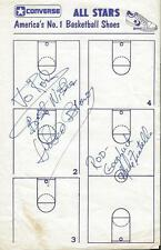 Hubie Brown & Mike Fratello Signed Converse All Stars Page JSA