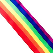 LGBT Gay Lesbian Pride Rainbow Sash Parade Carnival Festival