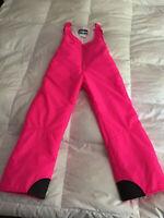 Colorado Classics by Gerry DayGlow Neon Pink Ski Snow Snowboard Bib Pants. SZ M