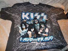 Kiss Loud & Proud Tour 2012 Grey T Shirt New Official Band Merch XL
