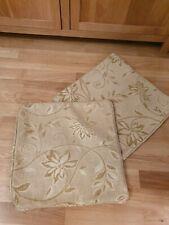 2Pcs Golden Pillow Cushion Cover Floral