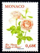 Timbre Monaco n°3007 Rose Princesse Charlène