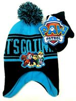 Nickelodeon Boys' Toddler Paw Patrol Hat and Mittens Set, Age 2-4