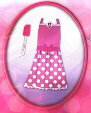 Disney MINNIE MOUSE 2pc APRON Baking Dress Up Play Set pink outfit with Spatula