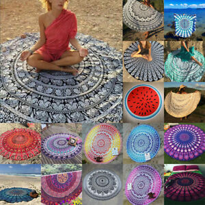 Mandala Round Beach Tapestry Hippie Throw Yoga Mat Towel Blanket Wall Hanging