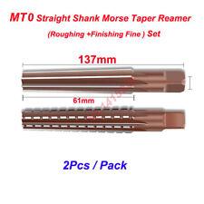2pcs Mt0 Straight Shank Morse Taper Reamer Set Roughingfinishing Reamertool New