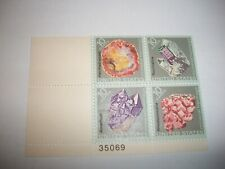1974 US #1538-1541 10c Mineral Heritage Plate Block of 4 MINT NEVER HINGED F-VF