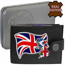 British Flag Union Jack Map Britain Klassek Leather Wallet Uk Gift present Tin