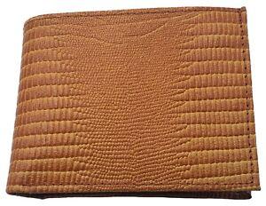 AG Wallets Snake Skin design Embossed Mens Leather Billfold